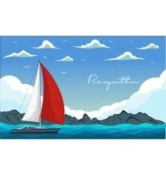 Yacht regatta vector image vector image