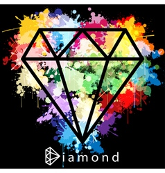 Diamond as background vector image