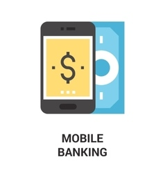 Mobile banking icon concept vector