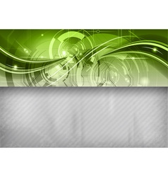 Tech background line top green vector