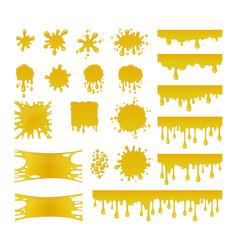 Set of sweet honey drops vector