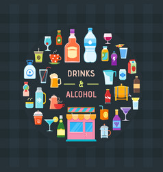Drinks and alcohol banner vector