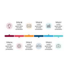 Circle timeline infographic cycle diagram vector