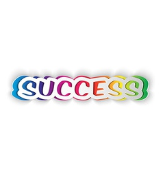 Word success cut from paper vector