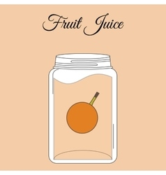 Fruit juice bottle vector