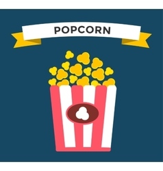 Popcorn box icon vector