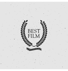 Best film award sign vector