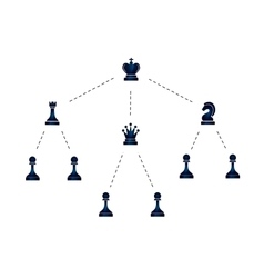 Hierarchy of company with chess icons vector
