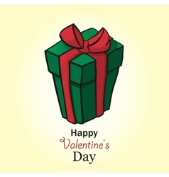 Present for valentine day box handdrow vector