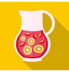 Drink sangria icon flat style vector