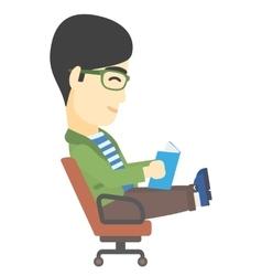 Businessman reading book vector