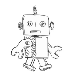children robot vector image