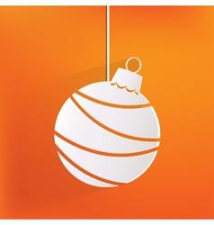 Christmas ball icon vector