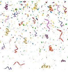 Confetti Birthday Background vector image vector image