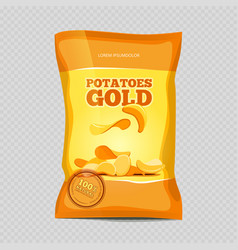 Crisp potato chips snacks vector
