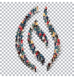 flame symbol people 3d vector image