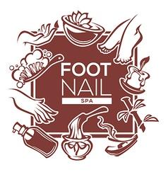 foot and nail spa vector image vector image