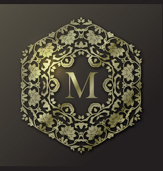 Frame monogram design vector