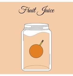 fruit juice bottle vector image