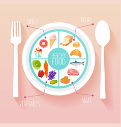 healthy food and dieting concept plan your meal vector image
