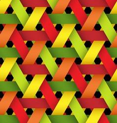 Hexagonal bright plastic basketwork vector