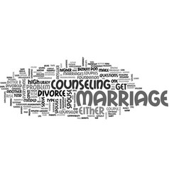 is your marriage at high risk for divorce text vector image vector image