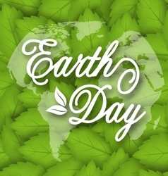 Leaves Texture Background for Earth Day Holiday vector image