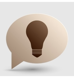 Light lamp sign brown gradient icon on bubble vector