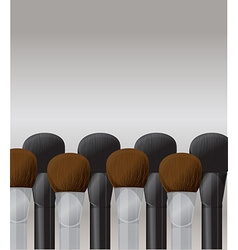 Makeup brushes vector image vector image