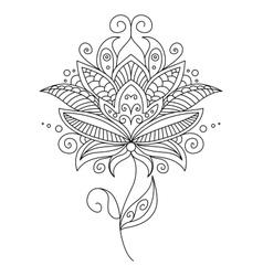 Pretty ornate delicate floral design element vector image