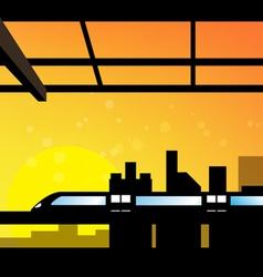 scene of cityscape vector image vector image