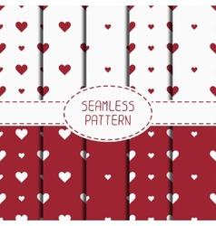 Set of red romantic geometric seamless pattern vector