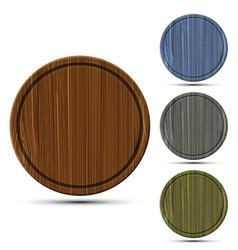 Set of round kitchen boards vector