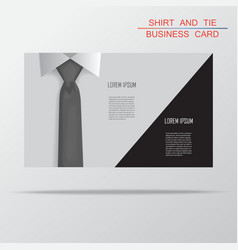 Shirt and tie business card bacground vector image vector image