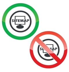 Sitemap permission signs vector