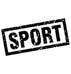 square grunge black sport stamp vector image vector image
