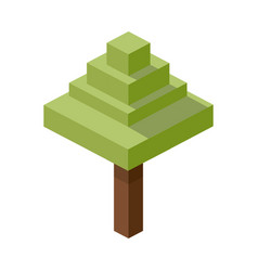 Tree plastic construction block lego construction vector