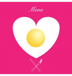 valentines menu print vector image vector image