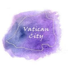 Vatican City watercolor map vector image