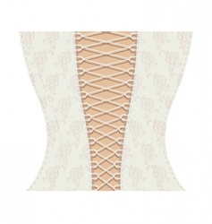 white corset with ribbon vector image vector image