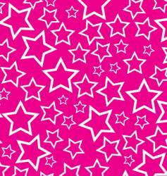 white stars on pink background vector image vector image