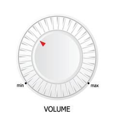 white volume knob vector image