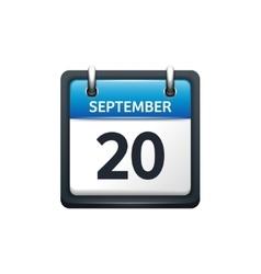 September 20 Calendar icon vector image