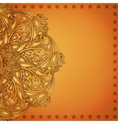 Indian henna background vector
