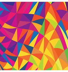 Multi colored triangles background vector
