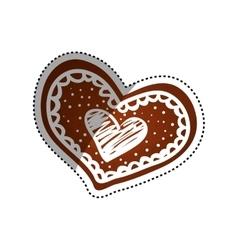 Heart romanticism symbol vector image