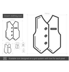 Groom clothing line icon vector