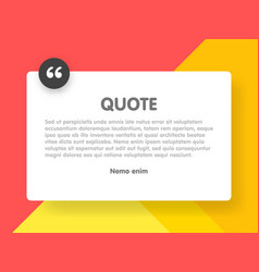 Material design style background and quote vector