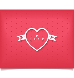Creative heart with an arrow and lettering vector