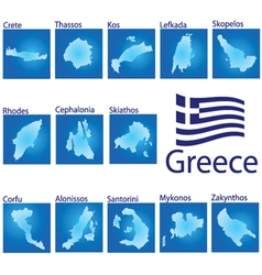 Island map on greece vector